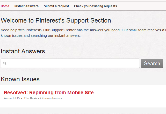 Where can I get help on Pinterest? (1/2)